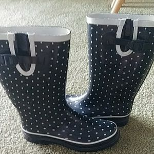 Shoes - Pokadot Rain Boots